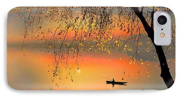 Fishing Sunset Phone Case by Igor Zenin