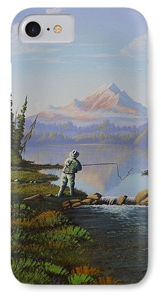 Fishing The High Lakes IPhone Case by Richard Faulkner