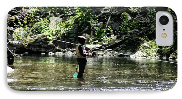 Fishing The Wissahickon Phone Case by Bill Cannon