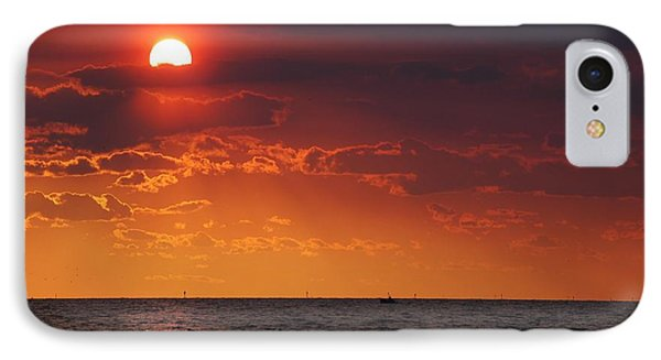 Fishing Till The Sun Goes Down Phone Case by Michael Thomas