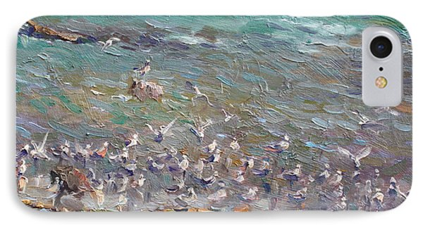 Seagull iPhone 7 Case - Fishing Time by Ylli Haruni