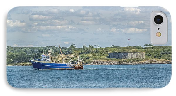 IPhone Case featuring the photograph Fishing Trawler Coming Into Port by Jane Luxton
