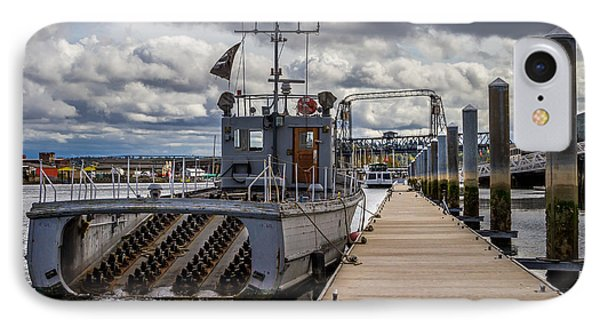 Fishing Vessel Tied Up At The Pier IPhone Case by Rob Green