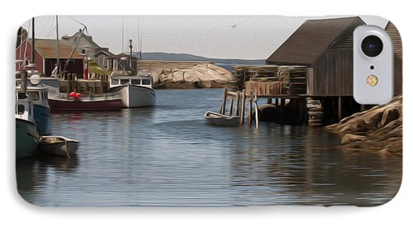 IPhone Case featuring the digital art Fishing Village by Kelvin Booker