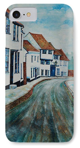 IPhone Case featuring the painting Fishpool Street - St Albans - Winter Scene by Giovanni Caputo