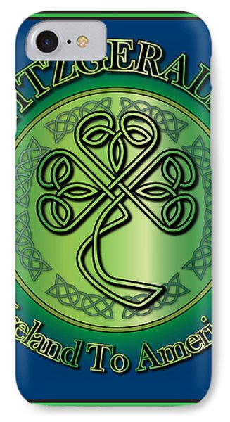 Fitzgerald Ireland To America IPhone Case by Ireland Calling