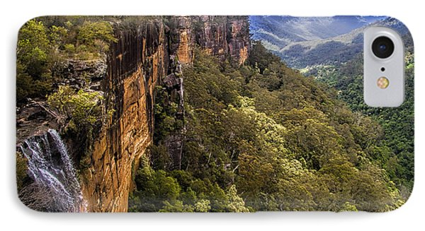 Fitzroy Falls In Kangaroo Valley Australia IPhone Case by David Smith