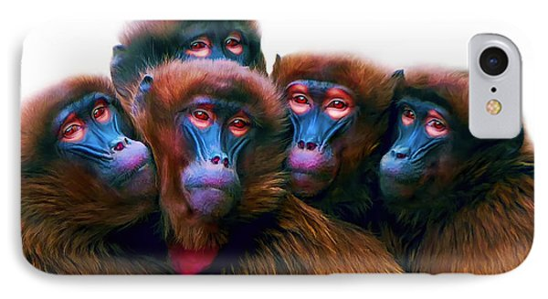 Five Baboons IPhone Case