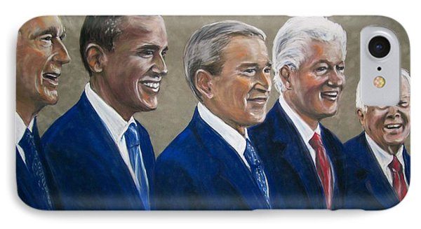 Five Living Presidents 2009 IPhone Case by Martha Suhocke