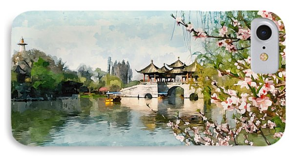 Five Pavilion Bridge Slender West Lake 1 IPhone Case