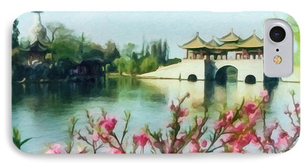Five Pavilion Bridge Slender West Lake 2 IPhone Case