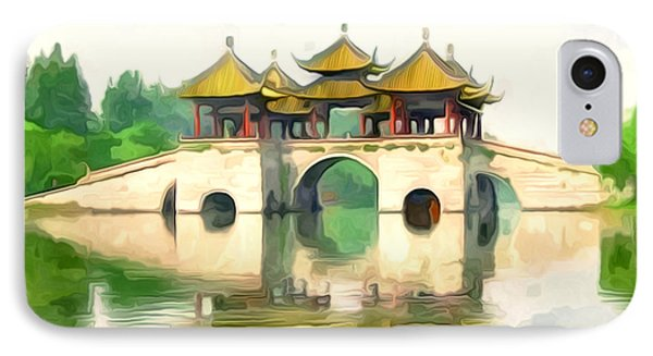 Five Pavilion Bridge Slender West Lake IPhone Case