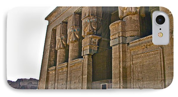 Five Thousand Year Old Temple Of Hathor In Dendera- Egypt IPhone Case by Ruth Hager