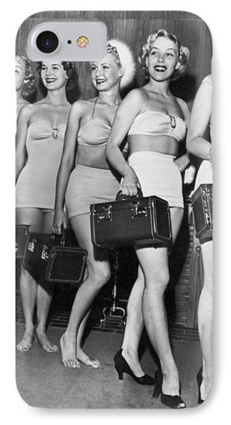 Five Women Pose With Bags IPhone Case by Underwood Archives