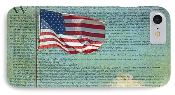 Flag - Declaration Of Independence -  Luther Fine Art Phone Case by Luther Fine Art