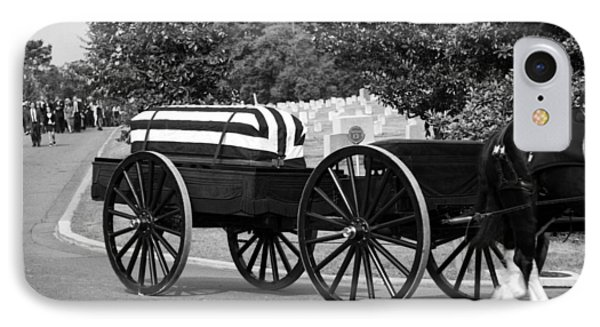 Flag Draped Casket At Arlington IPhone Case