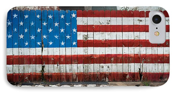 Flag Fence IPhone Case by Bud Simpson