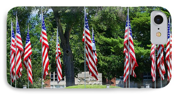 Flag - Illinois Veterans Home - Luther Fine Art Phone Case by Luther Fine Art