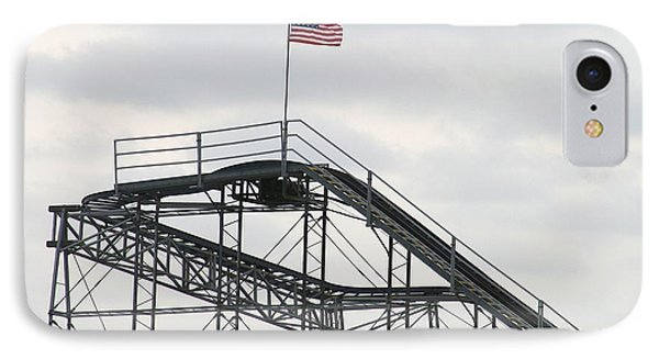 Flag Mounted On Seaside Heights Roller Coaster IPhone Case