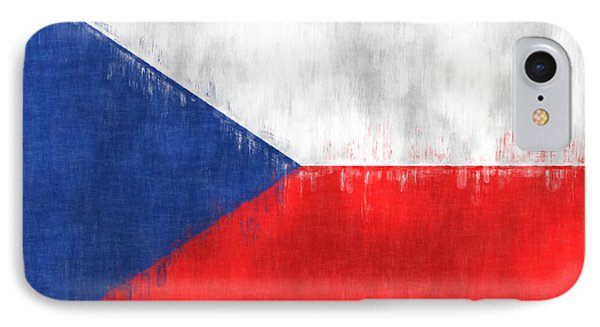 Flag Of Czech Republic IPhone Case by World Art Prints And Designs