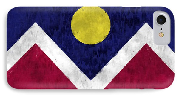 Flag Of Denver Phone Case by World Art Prints And Designs