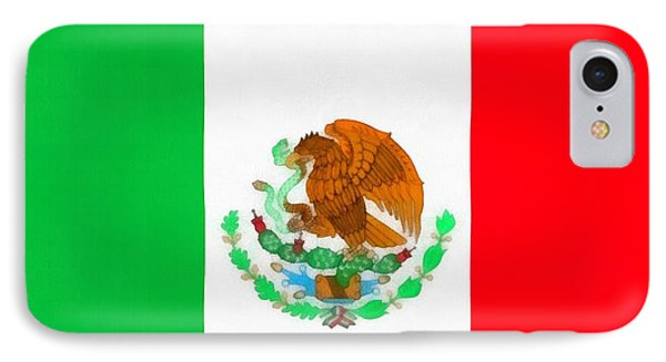 Flag Of Mexico Phone Case by Dan Sproul
