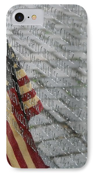 IPhone Case featuring the photograph Flag On The Wall by Dawn Romine