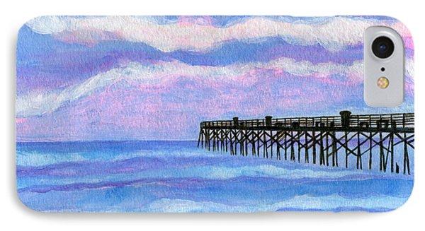 Flagler Beach Pier IPhone Case by Roz Abellera Art