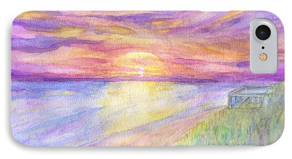 Flagler Beach Sunrise IPhone Case by Roz Abellera Art