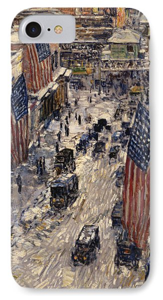 Flags On 57th Street IPhone Case by Celestial Images