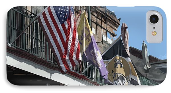Flags On Bourbon Street IPhone Case