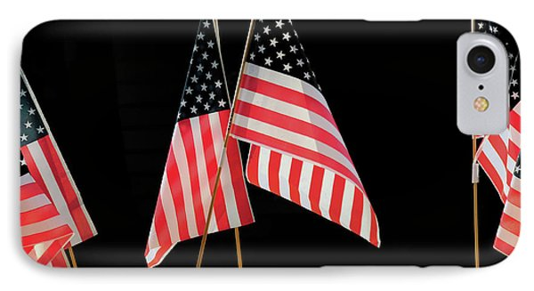 Flags On Float, July 4th Parade IPhone Case