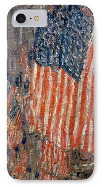 Flags On The Waldorf IPhone Case by Childe Hassam