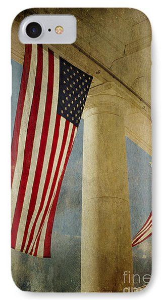 IPhone Case featuring the photograph Flags Over Arlington by Terry Rowe