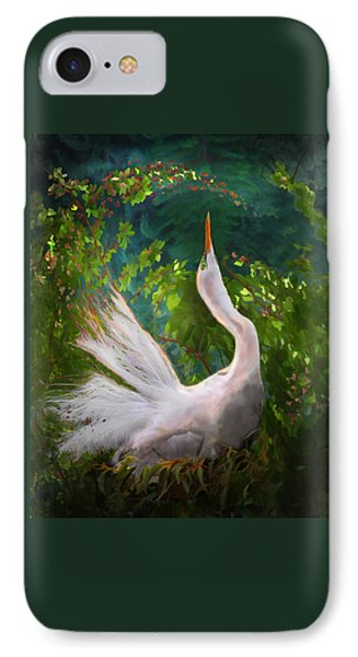 Flamboyant Egret Phone Case by Melinda Hughes-Berland