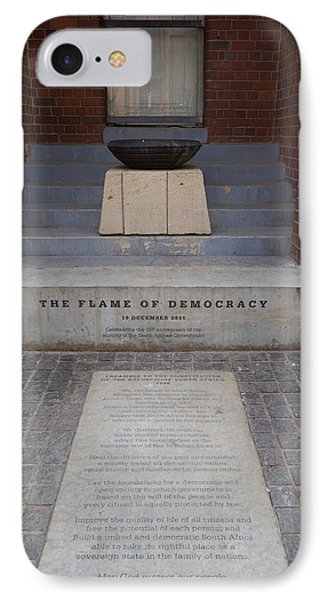 Flame Of Democracy, Constitution Hill IPhone Case by Panoramic Images