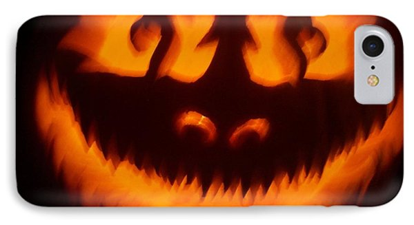 Flame Pumpkin IPhone Case by Shawn Dall
