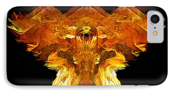 IPhone Case featuring the digital art Flame Rider by R Thomas Brass