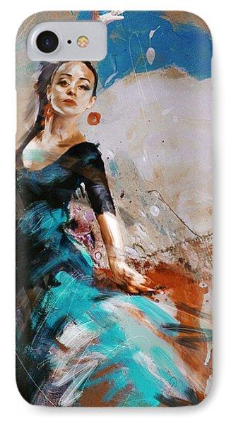 Flamenco 42 IPhone Case by Maryam Mughal