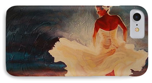 IPhone Case featuring the painting Flamenco Allure by Janet McDonald
