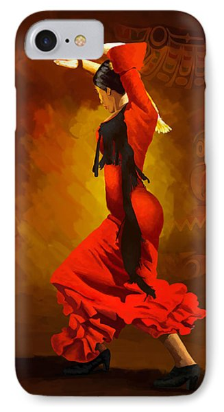 Flamenco Dancer 0013 Phone Case by Catf