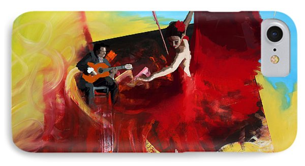 Flamenco Dancer 016 IPhone Case by Catf