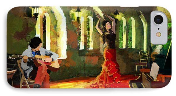 Flamenco Dancer 017 Phone Case by Catf