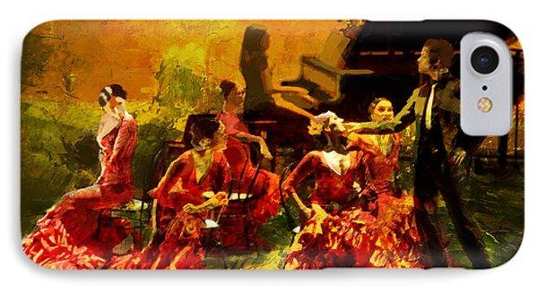 Flamenco Dancer 020 Phone Case by Catf