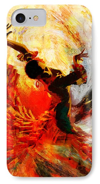 Flamenco Dancer 021 IPhone Case by Mahnoor Shah