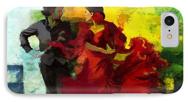 Flamenco Dancer 025 Phone Case by Catf