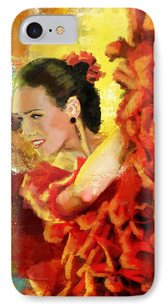 Flamenco Dancer 027 Phone Case by Catf