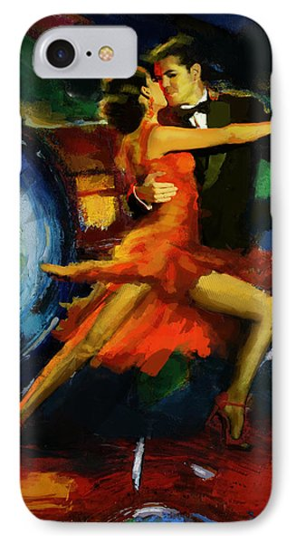 Flamenco Dancer 029 IPhone Case by Catf