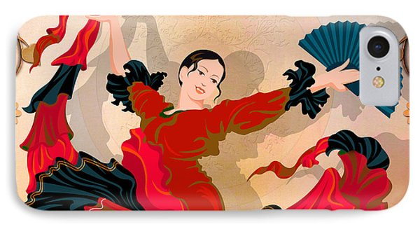 Flamenco Dancer Phone Case by Bedros Awak