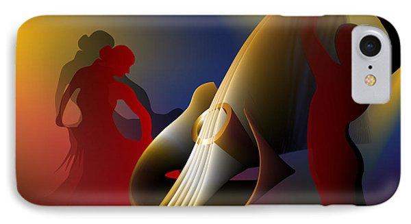 IPhone Case featuring the digital art Flamenco by Leo Symon
